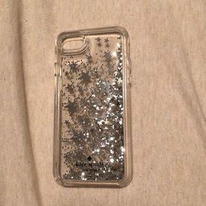 iPhone 6/7 case, glittery with stars